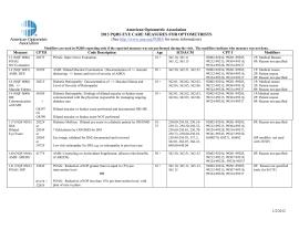 Microsoft Word - 3 - A - 2013 AOA PQRI Summary Chart (4).docx