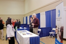 The AOA hosted a booth, staffed by Stacey Liles, student/faculty membership manager, and Rick Savoy, O.D., former faculty representative to the AOA.