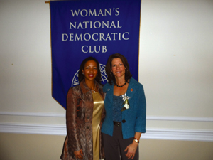 At left, Dr. Hawthorne is shown with Congresswoman Cheri Bustos (D-Ill.).