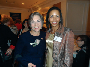 Dr. Hawthorne with Rep. Schakowsky.