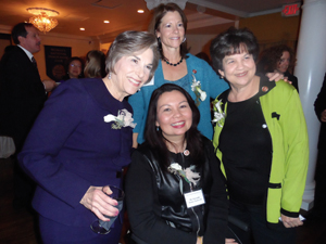 A quartet of congresswoman gather at the reception. Counterclockwise from top are Rep. Bustos, Rep. Lois Frankel (D-Fla.), Rep. Duckworth and Congresswoman Jan Schakowsky (D-Ill.).