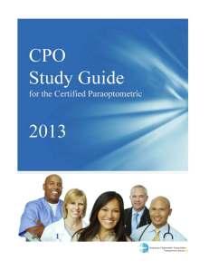 cpo study guide