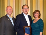 From left, AOA then-President-elect Mitch Munson, O.D., Sen. John Boozman, O.D., and Susan Brunnett, O.D.