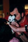 Steve La Liberte, O.D., receives assistance examining a patient in Peru.