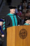 Dr. Munson addresses the class of 2013 at the Southern California College of Optometry Commencement in Fullerton, Calif. Dr. Munson was also honored with the Distinguished Service Award for his contributions over time that have advanced the stature and integrity of the college. He is a 1986 graduate of SCCO.