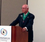 John F. Amos, O.D., professor emeritus and former Dean of the University of Alabama-Birmingham School of Optometry, is inducted into the National Optometry Hall of Fame in 2013.